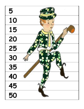 St. Patrick's Day Skip Count into Multiplication Free Sample