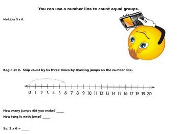 Skip Count on a Number Line