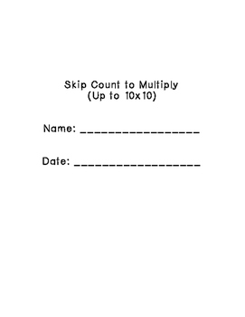 Skip Count to Multiply