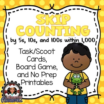 Skip Count within 1,000  Math Game and Printable Worksheets
