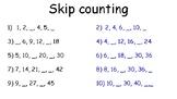 Skip Counting 1-10