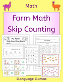 Farm Skip Counting by 2s, 3s, 5s, 10s - farm math activities