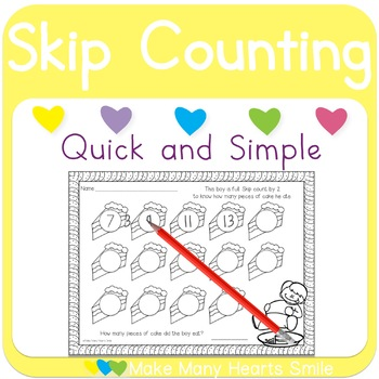Skip Counting: Boy and Cake