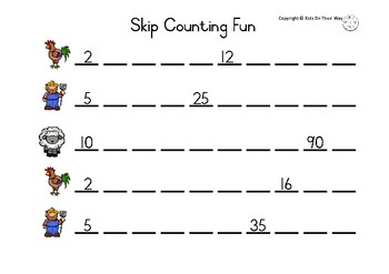 Skip Counting 2's,5's and 10's