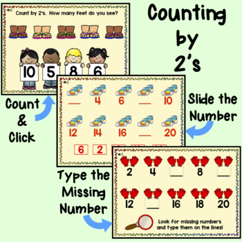 Skip Counting 2's, 5's, and 10's Boom Cards for Distance Learning