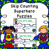 Math Center 2nd Grade Skip Count Game Skips Counts by 5s 10s 100s Puzzle 2.NBT.2