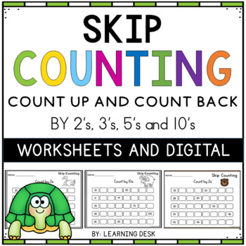 skip counting worksheets by learning desk teachers pay teachers. Black Bedroom Furniture Sets. Home Design Ideas