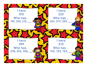 Skip Count I Who Have Has Skip Counting Game Skip Count by 5s, 10s, 100s 2.NBT.2