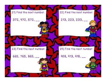 Skip Counting Task Cards for Skip Counting by 5, 10, and 100 - 2.NBT.2