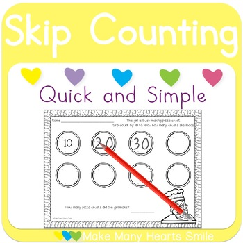 Skip Counting: Pizza Crust (by 10)
