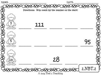 Skip Counting - 24 Print & Go Printables