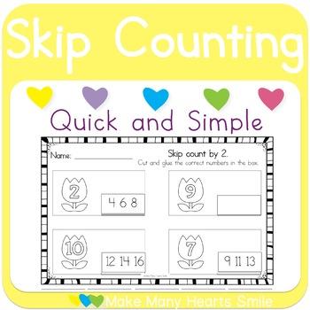 Skip Counting: Spring Worksheets