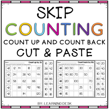 skip counting worksheets by learning desk teachers pay