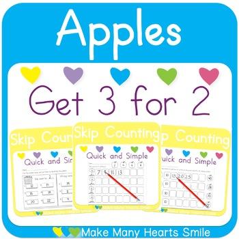Skip Counting: Apples Worksheets