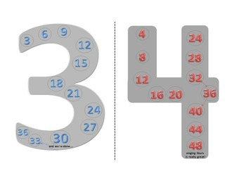 Skip Counting 3's & 4s