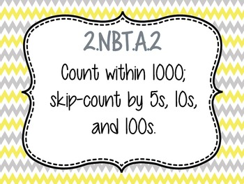 Skip Counting 5s, 10s, 100s Bingo Game PPT with Blank Bingo Card 2.NBT.A.2