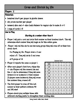Skip Counting 5s, 10s, 100s, Grow and Shrink Center