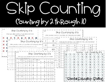 Skip Counting: Activities for Counting by 2's,3's,4's,5's