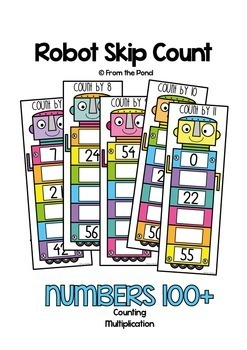 Skip Counting Activity Cards {Multiplication Times Tables}