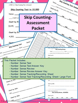 Skip Counting Assessment Packet