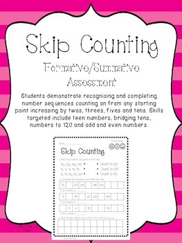 Skip Counting Worksheet. Assessment Page