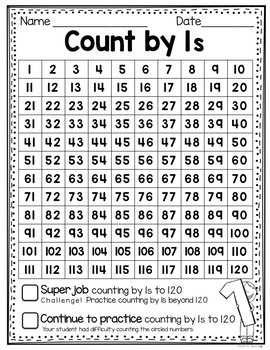 Skip Counting Assessments