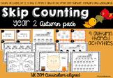 Skip Counting Autumn Pack UK Curriculum 2014