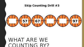 Skip Counting Basketball Game and Practice