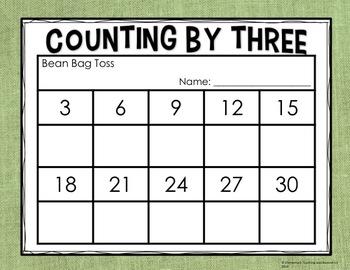 Skip Counting: Bean Bag Toss