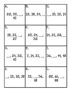 Pumpkin Skip Counting Board Game