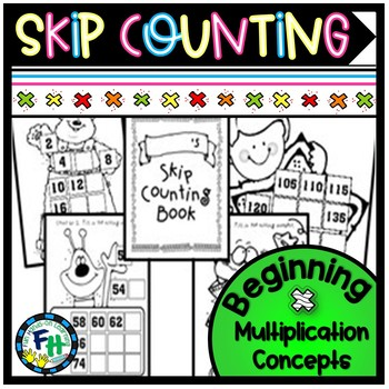Skip Counting Book (Beginning Multiplication Concepts)