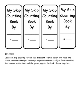 Daily 3 Math Skip Counting Booklet