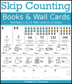 Skip Counting Books & Wall Cards