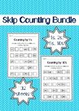 Skip Counting Worksheets Bundle