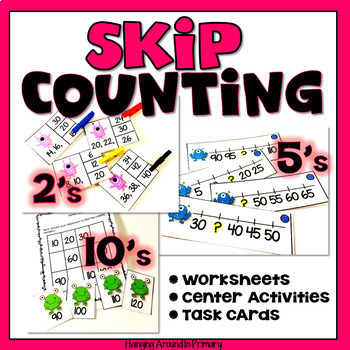 Math Centers - Skip Counting by 2s, 5s and 10s BUNDLE