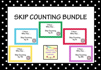 Skip Counting Bundle: I Have...Who Has...