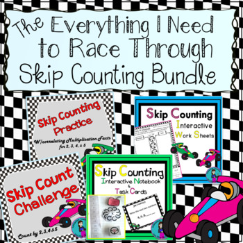 Skip Counting Bundle {Interactive Notebook, Quick Printables, & Mazes}