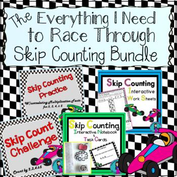 Skip Counting Bundle {Interactive Notebook, Quick Printabl