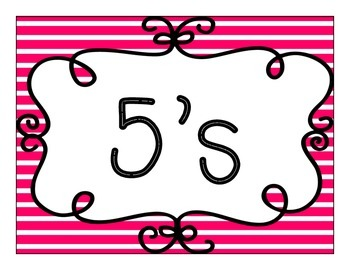 Skip Counting Bunting Decor: Bright Stripes