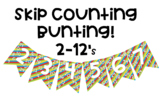 Skip Counting Bunting Posters