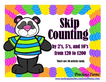 Skip Counting By 2's, 5's, and 10's - Activity Cards