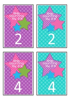 Skip Counting By 2's Game Cards