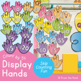 Skip Counting By 5 Hand Numbers Display