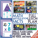 Multiplication Fact Practice: Multiplication Flash Cards, Music Videos and Game