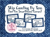 Skip Counting By Tens Smartboard Game Pack (Four Games!)