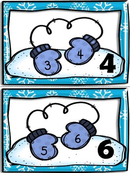 Skip Counting By Two Classroom Posters - Winter Theme