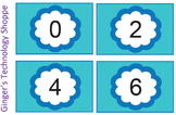 BUNDLE!  Skip Counting Cards!  Blue Wave theme!  2 3 4 5 6