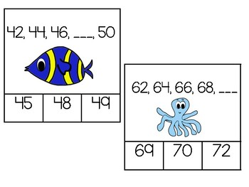Skip Counting Cards - 2's, 5's and 10's