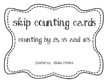 Skip Counting Cards - Bundled