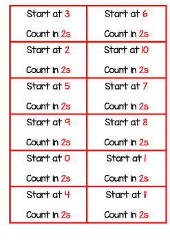 Skip Counting Cards and Worksheet